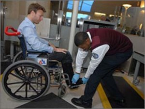 Example: Wheelchair inspection at Airport