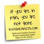 Today I was on the radio for National Invisible Illness Week talking about Organizing Tips & Parenting When Ill