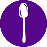 purple spoon