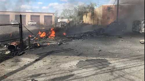 Teterboro Airport Crash Results In Damage To Industrial Building