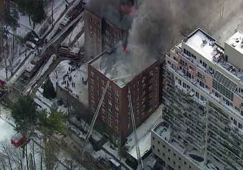 Yonkers Apartment Fire Leaves 100's Without A Home