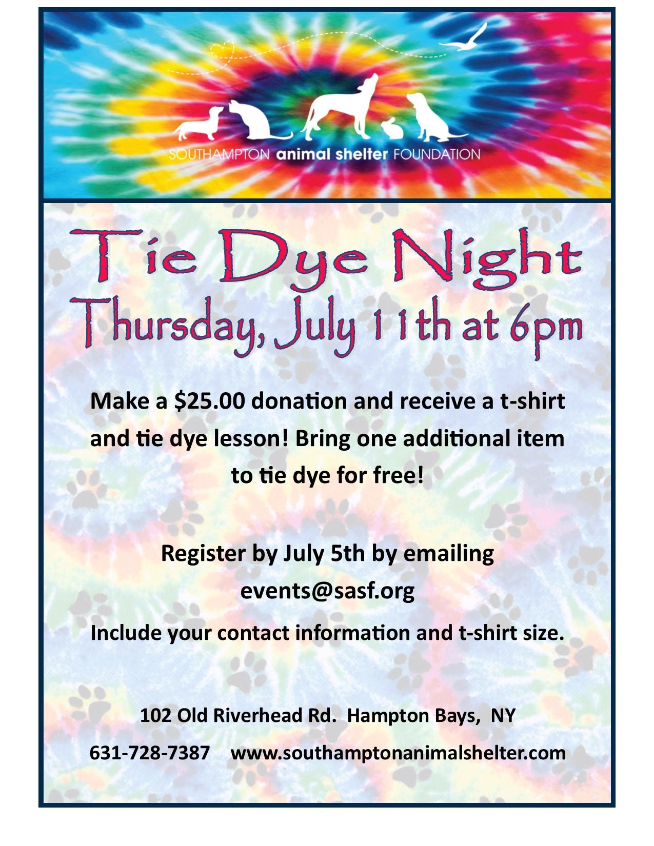 Tie Dye Night
