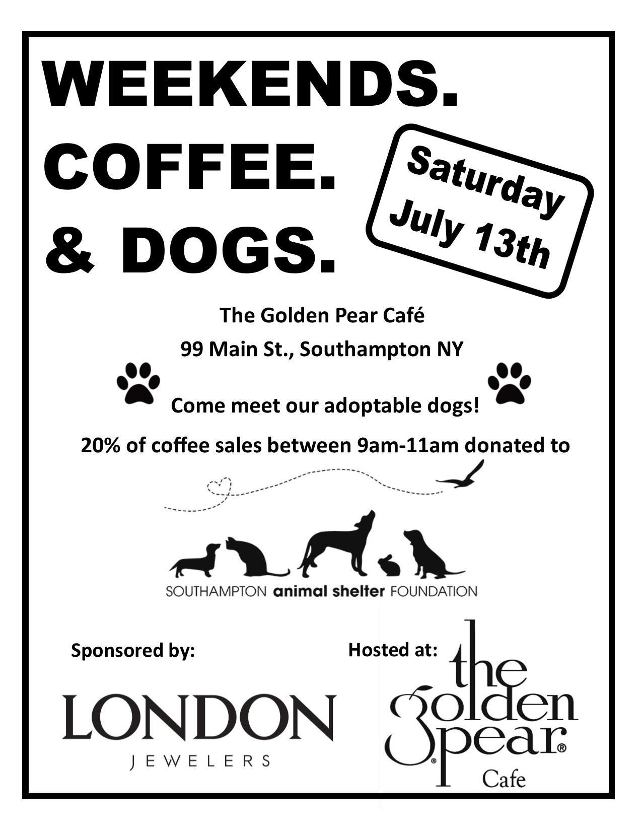 Weekends. Coffee. & Dogs.