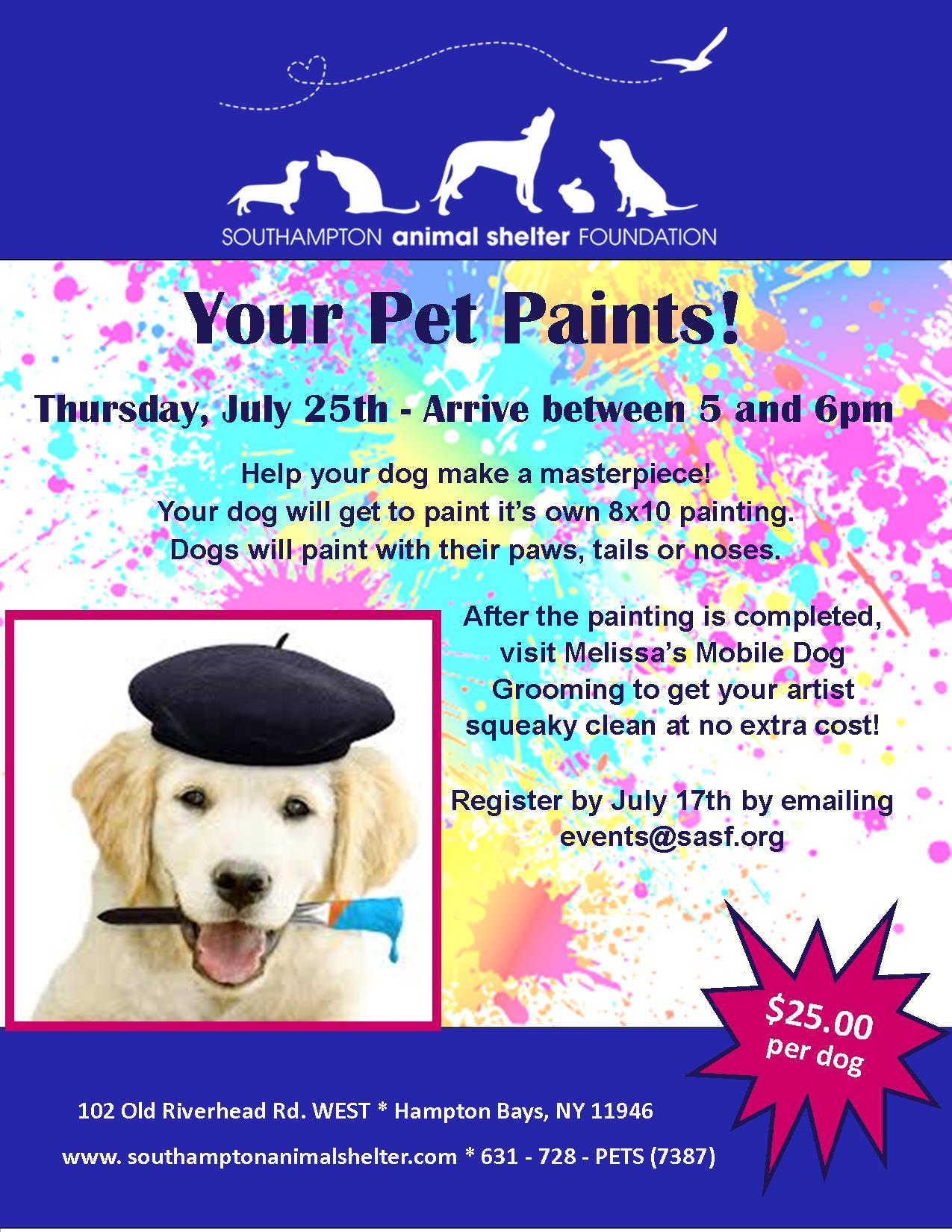 Your Pet Paints!