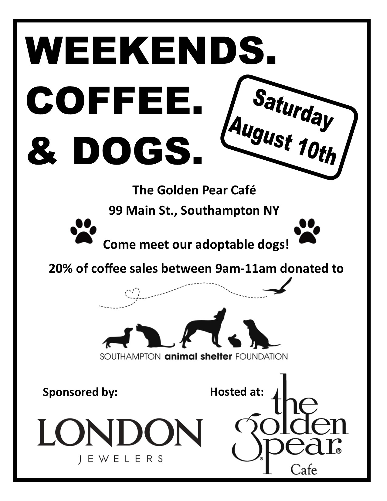 Weekend, Coffee and Dogs!