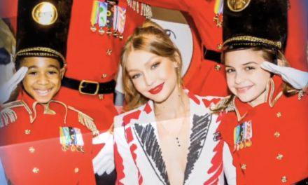 Giga Hadid Dresses FAO Schwarz's Toy Soldiers