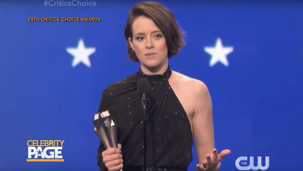 Claire Foy's Critics' Choice Award