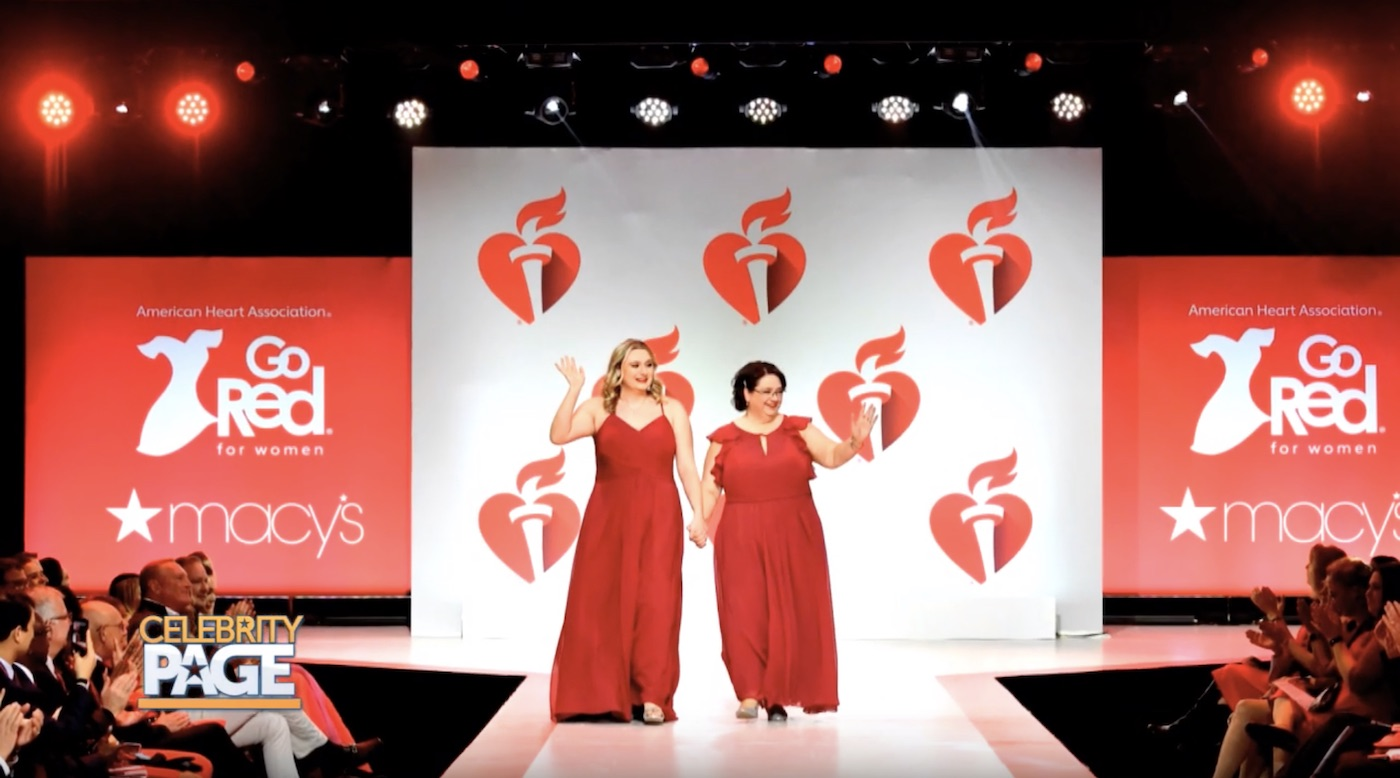 Survivors Walk in The American Heart Association's Red Dress Collection Fashion Show