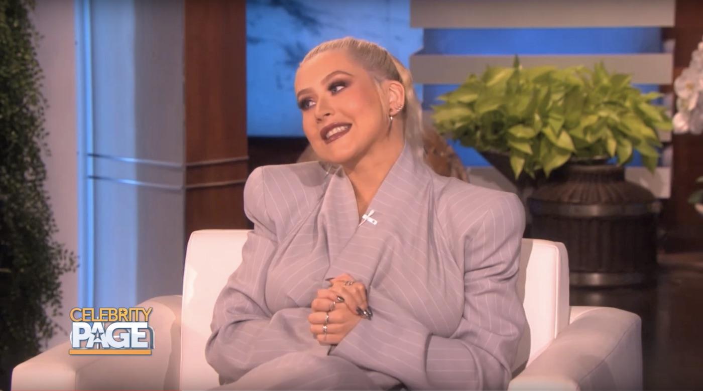 Christina Aguilera on Ellen