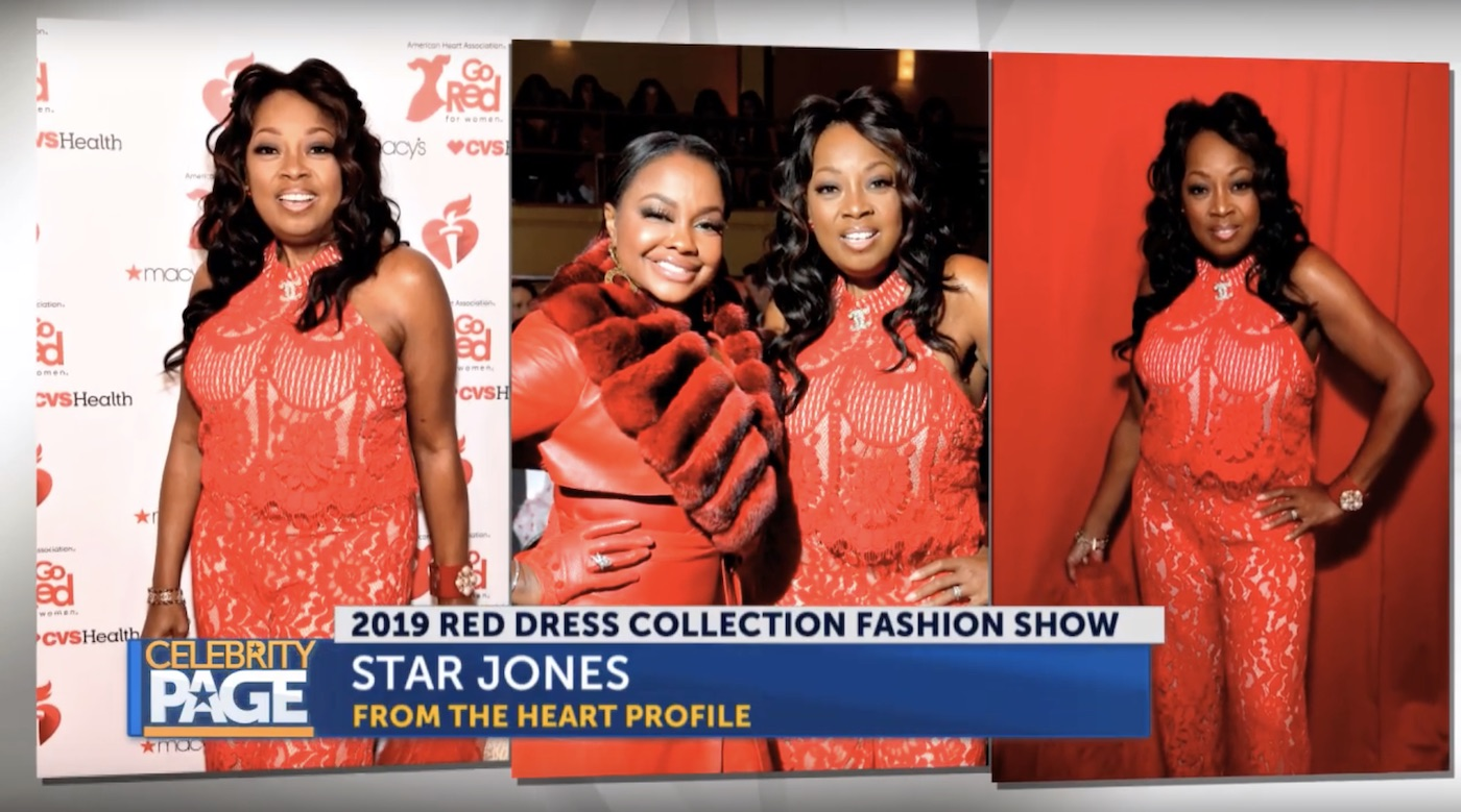 Star Jones at the American Heart Association's Go Red for Women Event