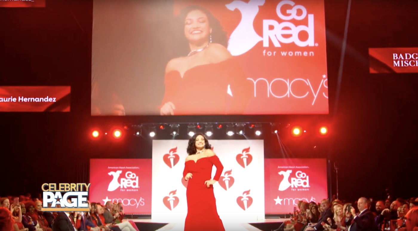 Laurie Hernandez in the Go Red for Women Fashion Show