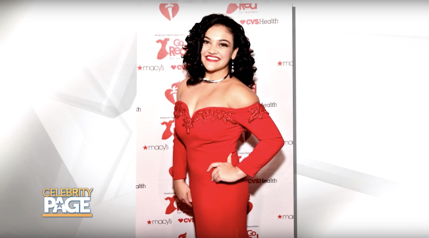 Laurie Hernandez models the Red Dress Collection