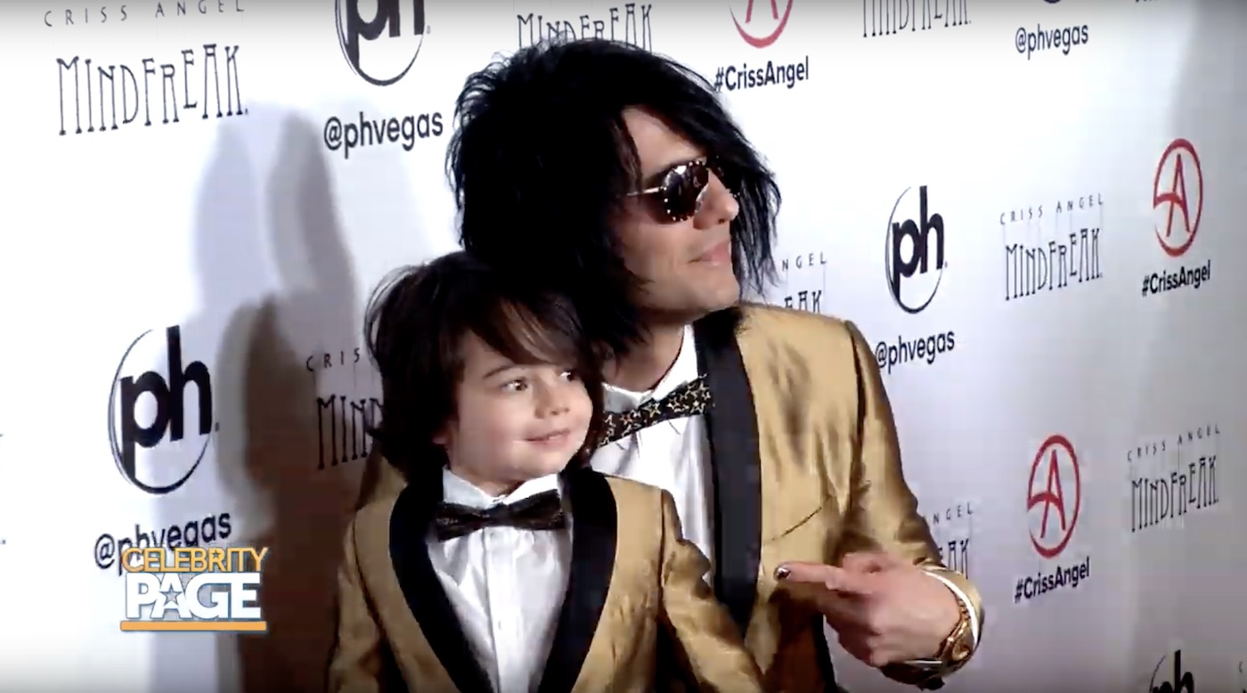 Criss Angel and Son Johnny Crisstopher