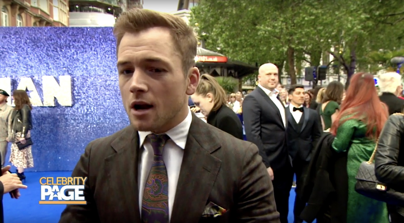 Taron Egerton at Rocketman's Premiere