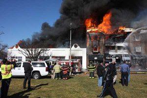 Long Branch NJ Commercial Building Fire