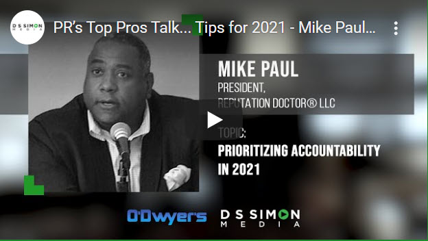 01/11/21 PR's Top Pros Talk…Tips for 2021 – Mike Paul-