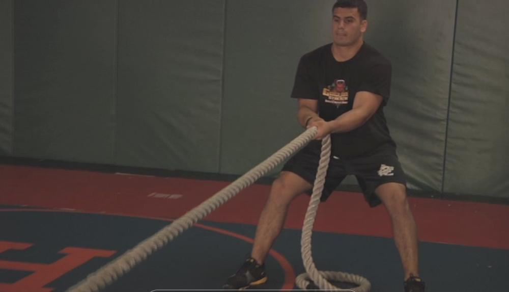 hand over hand rope pull gaglione strength