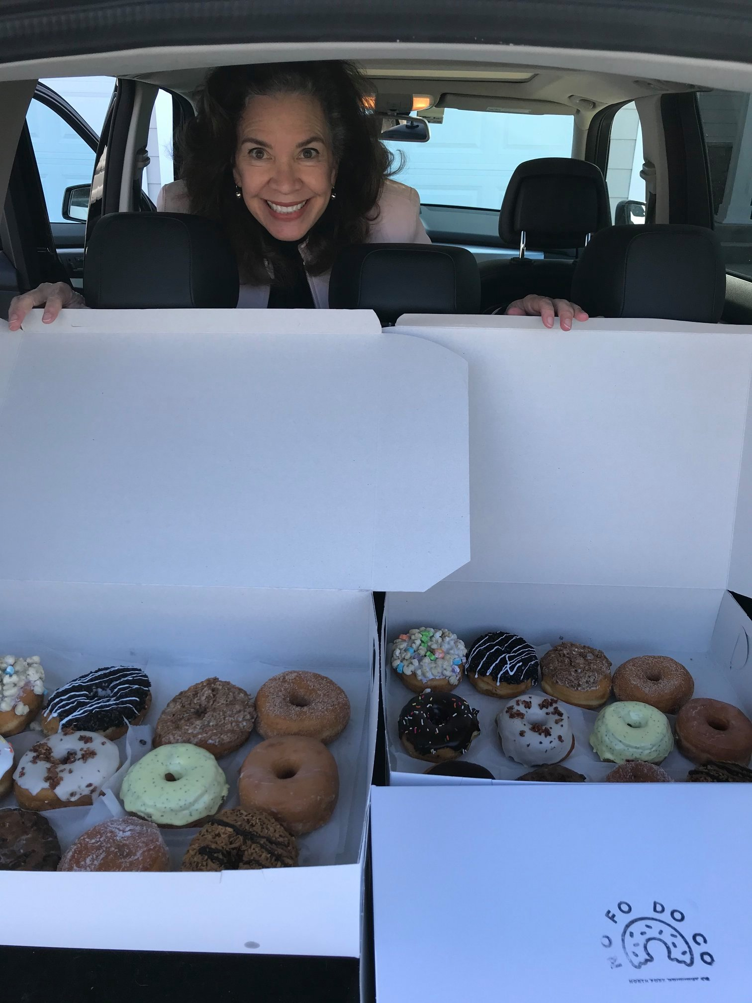Donna with Donuts