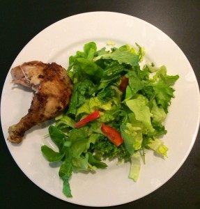 Leftovers:  Chicken and Salad